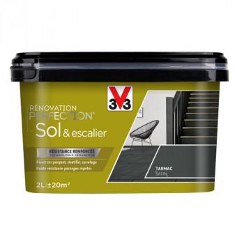 Peinture V33 Sol et escalier tarmac satin 2 L