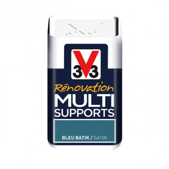Peinture V33 rénovation multi-supports bleu batik satin 75ml