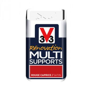 Peinture V33 rénovation multi-supports rouge caprice satin 75ml