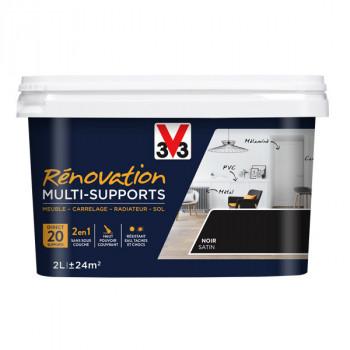 Peinture V33 rénovation multi-supports noir satin 2L