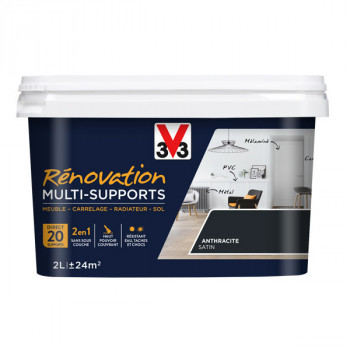 Peinture V33 rénovation multi-supports anthracite satin 2L
