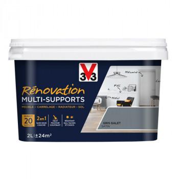 Peinture V33 rénovation multi-supports gris galet satin 2L