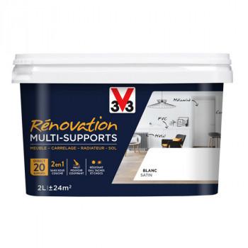 Peinture V33 rénovation multi-supports blanc satin 2L