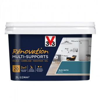 Peinture V33 rénovation multi-supports bleu batik satin 2L