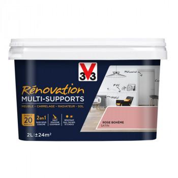 Peinture V33 rénovation multi-supports rose bohème satin 2L