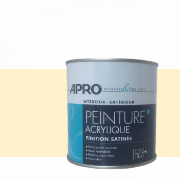 Peinture Apro multi-supports  Murs, plafonds, boiseries, plinthes… beige coquille satin 0,5 L
