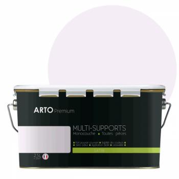 Peinture arto premium multi - supports murs, plafonds, boiseries, plinthes et radiateurs rose plaisir satin 2,5 L