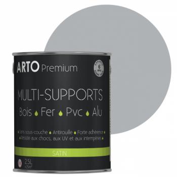 Peinture Arto Premium multi-supports gris satin 2,5L