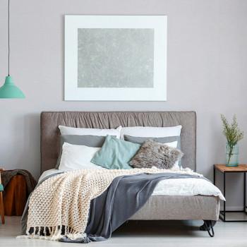 Papier peint intissé gris clair effet rayé