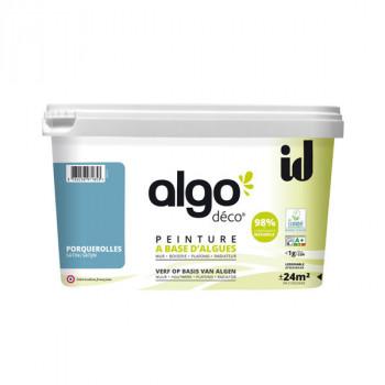 Peinture Algo multi-supports Murs, plafonds et boiseries bleu porquerolles satin 2L