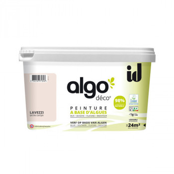 Peinture Algo multi-supports Murs, plafonds et boiseries rose lavezzi satin 2L
