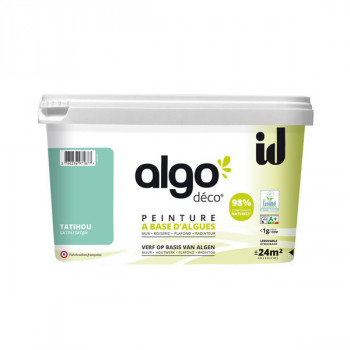 Peinture Algo multi-supports Murs, plafonds et boiseries vert Tatihou satin 2L