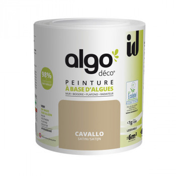 Peinture Algo multi-supports Murs, plafonds et boiseries beige cavallo satin 0,5L