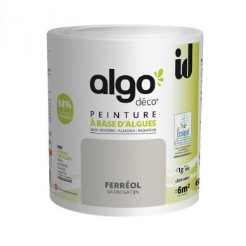 Peinture Algo multi-supports Murs, plafonds et boiseries gris ferreol satin 0,5L