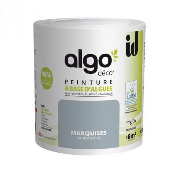 Peinture Algo multi-supports Murs, plafonds et boiseries bleu marquise satin 0,5L