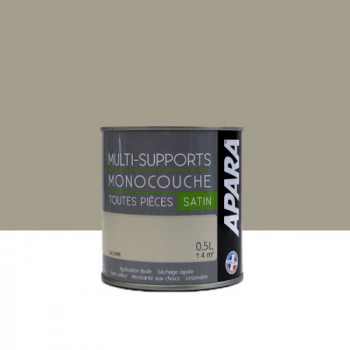 Peinture Apara multi-supports  Murs, plafonds, boiseries, plinthes...  beige calcaire satin 0,5L
