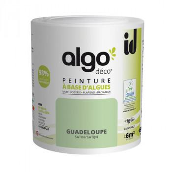 Peinture Algo multi-supports Murs, plafonds et boiseries vert Guadeloupe satin 0,5L