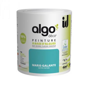 Peinture Algo multi-supports Murs, plafonds et boiseries bleu Marie-Galante satin 0,5L