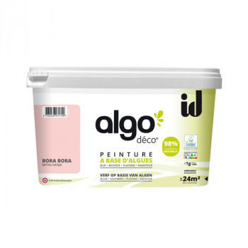 Peinture Algo multi-supports Murs, plafonds et boiseries rose Bora Bora satin 2L