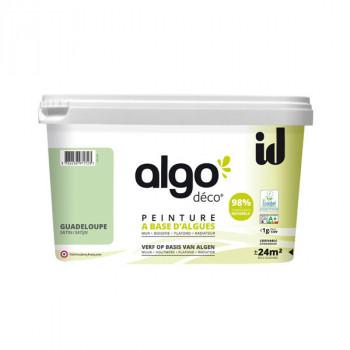 Peinture Algo multi-supports Murs, plafonds et boiseries vert Guadeloupe satin 2L