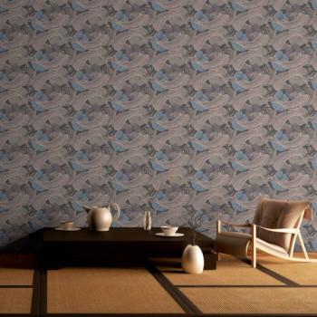 Papier peint intissé lessivable motifs poisson AS CREATION MioTokyo