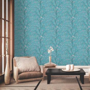 Papier peint intissé lessivable motif floral AS CREATION Mio Tokyo