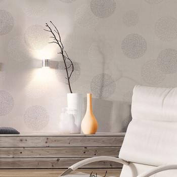 Papier peint intissé décoré bulles lin