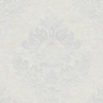 Papier peint intissé lessivable médaillon blanc AS CREATION Alena St Petersburg