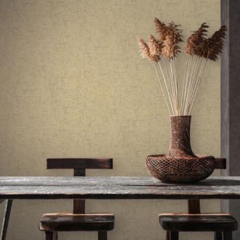 Papier peint intissé lessivable effet chiné beige AS CREATION Said Marrakech