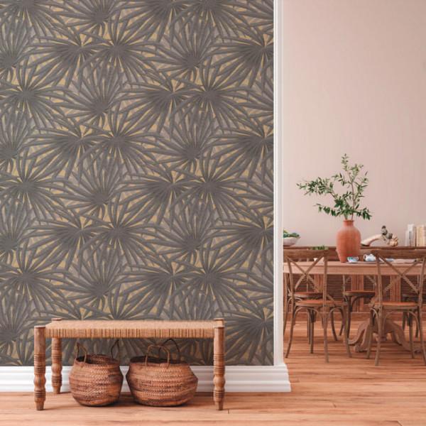 Papier peint intissé lessivable palme...