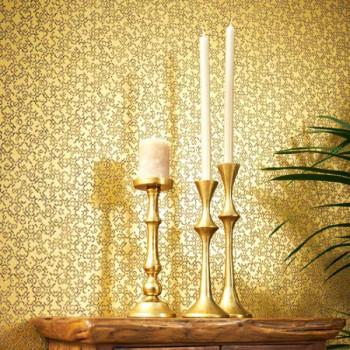 Papier peint intissé lessivable baroque doré AS CREATION Said Marrakech