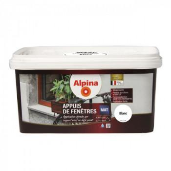 Peinture Alpina spécial appuis de fenêtres blanc satin 2L