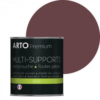 Peinture arto premium multi-supports murs, plafonds, boiseries, plinthes et radiateurs violet elixir satin 0,5 L