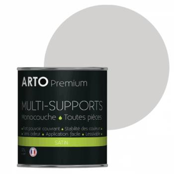 Peinture arto premium multi-supports murs, plafonds, boiseries, plinthes et radiateurs lin satin 0,5 L