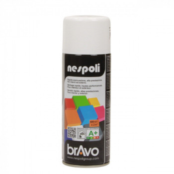 Peinture Bravo Spray aérosol multi-supports blanc trafic brillant 400 ML