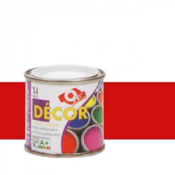 Peinture Oxitol laque décorative rouge coquelicot brillant 25 ML