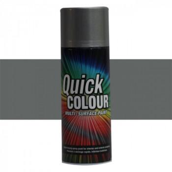 Peinture Quick Color aérosol multi-supports argent brillant 400 ML