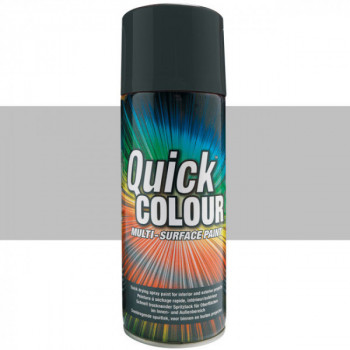 Peinture Quick Color aérosol multi-supports argent satin 400 ML
