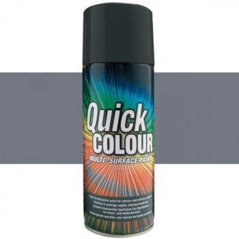 Peinture Quick Color aérosol multi-supports anthracite brillant 400 ML