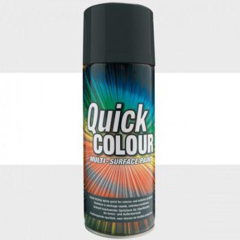 Peinture Quick Color aérosol multi-supports blanc satin 400 ML