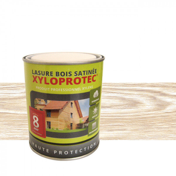 Lasure bois Xyloprotec blanc cérusé...
