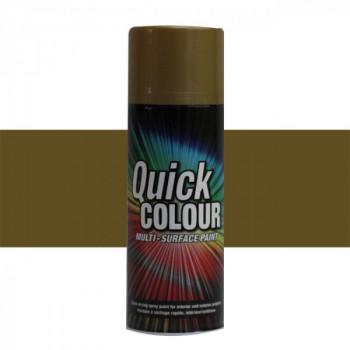 Peinture Quick Color aérosol multi-supports or brillant 400 ML