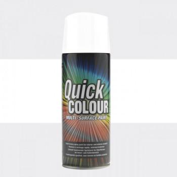 Peinture Quick Color aérosol multi-supports blanc brillant 400 ML