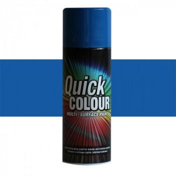 Peinture Quick Color aérosol multi-supports bleu 400 ML