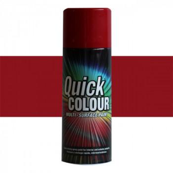 Peinture Quick Color aérosol multi-supports rouge cerise 400 ML