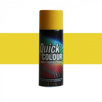 Peinture Quick Color aérosol multi-supports jaune soleil  400 ML