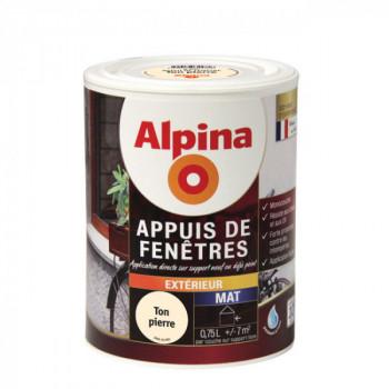 Peinture Alpina spécial appuis de fenêtres pierre satin 0,75L