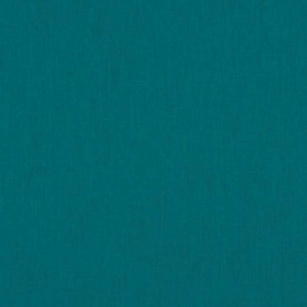 Tissu coton uni bleu canard 150 cm