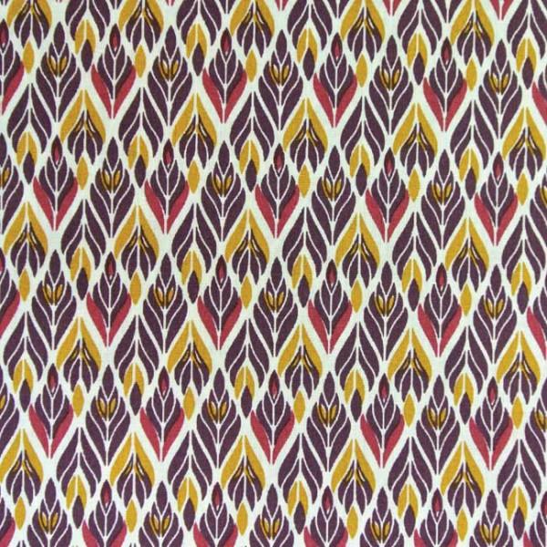 Tissu coton imprimé feuillage 150 cm