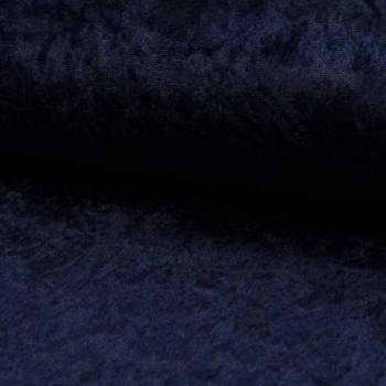 Tissu velours uni bleu marine 150 cm